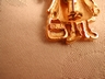JJ Jonette Jewelry Co. Gold Tone Little Girl Pin