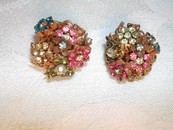 Amourelle Kramer Co. Frank Hess Haskell Designer Earrings Rare