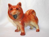 Vintage Russet Color Ceramic Chow