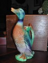 St. Clement French Majolica (Barbotine) Duck Decanter