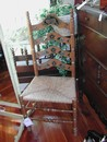 Vintage Ladder Back Chair Rush Seat