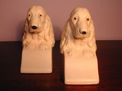 Vintage English Setter Chalkware Bookends England