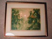 Charming Limited Edition 1935 Van Der Vene Copper Print