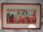 "O'Klein Signed Print Dog Art Paris 1938 ""Private Bar"""