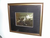 "Vintage Lionel Barrymore Gold Foil Etching ""Fishing Banks"""