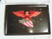 Vintage Couroc Bakelite & Wood Inlaid Eagle Patriotic Americana