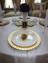 Elegance in Gold Centerpiece with Rose Pom Sets
