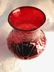 Anchor Hocking Blown Out Ruby Red Rain Flower Glass Vase