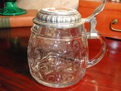A Handsome Original BMF Bierseidel Thumbprint Glass Stein