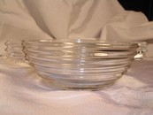 "A ""Manhattan"" Horizontal Ribbed Berry Bowl Anchor Hocking Glass"