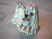 Adorable Golden Yorkshire Terrier (Yorkie) Pendent or Ornament