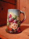 Beautiful Hand Painted Bell Pottery Company Blackberry Mug