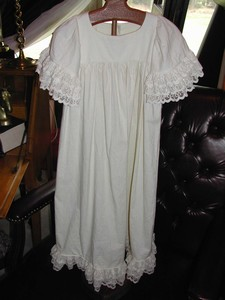 Old Linen and Lace Christening or Large Doll Gown