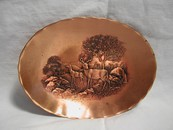 "Solid Bronze ""Wendell August Forge"" Stag Dish"