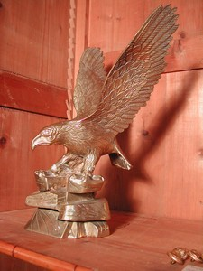 Large & Majestic Brass American Eagle Sculpture