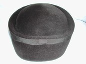 Vintage French Cloche Felt Hat
