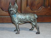Wonderful Vintage Cast Iron Boston Terrier Door Stop