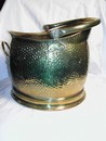 Vintage English Brass Coal Scuttle