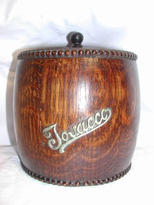 Oak English Tobacco Barrel (vintage)