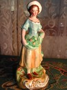 "Staffordshire Figurine Maiden Gathering Fruit ""William Kent"""