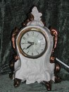 Retro Vintage Ivory & Gold Ceramic Classical Style Clock