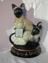Siamese Cat Cast Iron Door Stop Upper Deck England