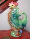 Vintage St. Clement French Majolica (Barbotine) Rooster Pitcher