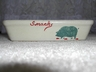 Adorable Roseville Art Pottery Snack Dish Marked/Signed (Pig)