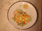 Antique Harker Pottery Co. Roses & Gold Charger