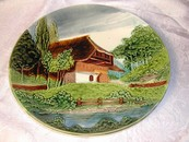 Lovely Vintage Zell German Majolica Plaque Plate