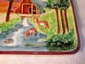 Unique Vintage German Majolica Mill House with Deer Scene Plaque