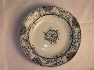 Antique Wedgwood Maltese Blue & White Transfer Ware Bowl England