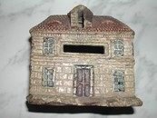 Antique Hand Painted Ceramic 19th Century European Bank