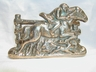 Little Vintage English Brass Horse/Rider Letter Holder