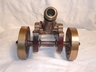 Handsome Vintage English Brass/Bronze and Wood Cannon Statue