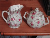 Beautiful Lefton Chintz Style Cream and Sugar