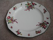 "Vintage Royal Doulton Hand Painted ""Old Leeds Sprays"" Plate"