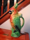 Vintage St. Clement French Majolica (Barbotine) Parrot Decanter