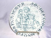 M C Edmiston England Blue & White Alphabet Coaster