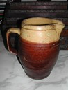 Antique French Yellowware Wine Pichet (Pitcher)