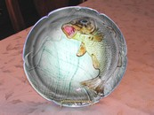 Fish & Net Hispania Majolica Plate Spain