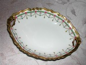 Art Deco B & H Limoges France Gilt Dish 1920's