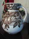 A Wedgwood Aesthetic Period Brown Transfer Pitcher England