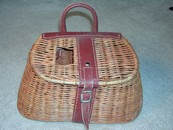 Old Wicker/Leather Fishing Creel