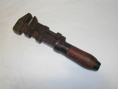 Antique Monkey Wrench/Wood Handle