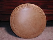 Lovely Round Antique Allinson English Bread Board