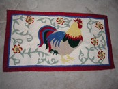 A Charming French Country Style Rooster Rug New