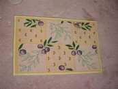 Olive Garden Tapestry Accent Rug New