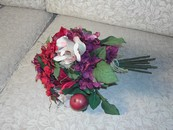 Lovely Faux Silk Floral Arrangement Plum Rust