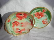 Limoges Hand Painted Poppies Bowl - Artist Signed